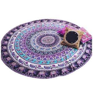 "60"" Elephant tapestry beach blanket/yoga mat"